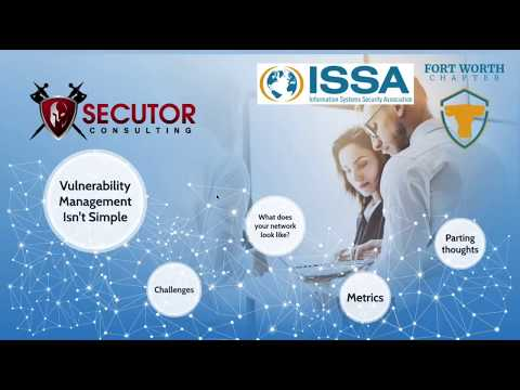 ISSA Chapter presentation - Vulnerability Management - May 9 2017