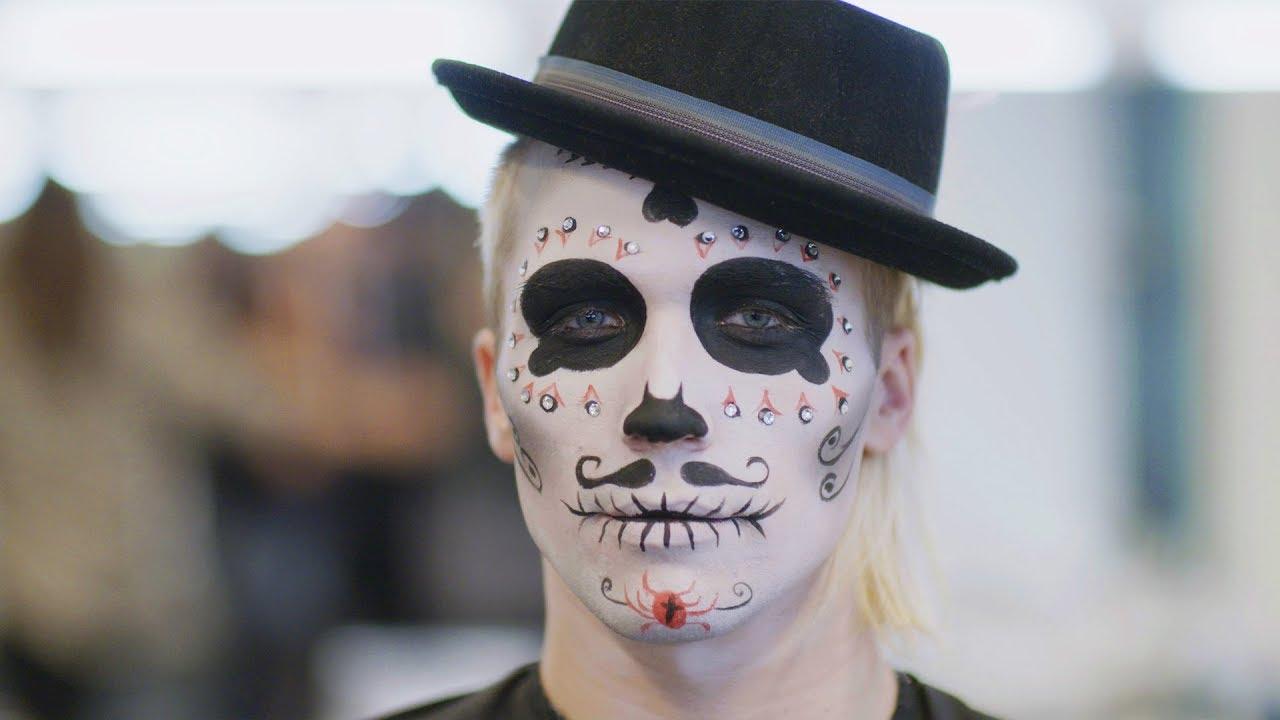 Halloween Make Up Für Männer Youtube