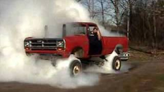Blown mud truck