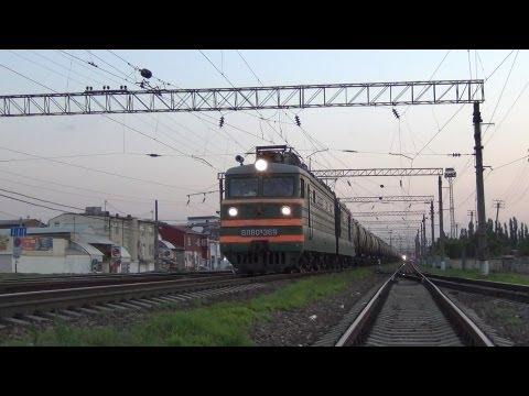 ВЛ80К-369 и красный мигающий сигнал светофора