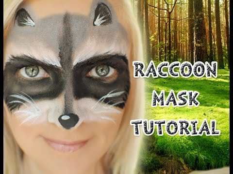 Easy Raccoon Mask Face Paint Tutorial Youtube