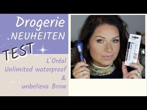 Drogerie NEUHEITEN Test | Loreal UNLIMITED Mascara waterproof I UNBELIEVA BROW I Mamacobeauty
