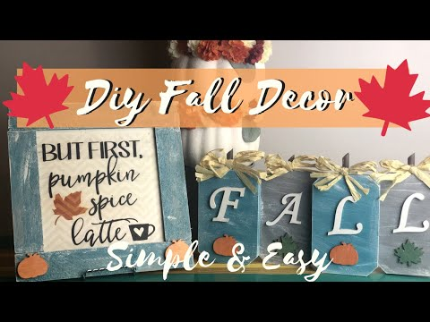 🍁FARMHOUSE FALL DECOR DIY | DIY FALL DECOR | DIY FALL DECOR DOLLAR TREE |DIY FALL DECOR 2019🍁