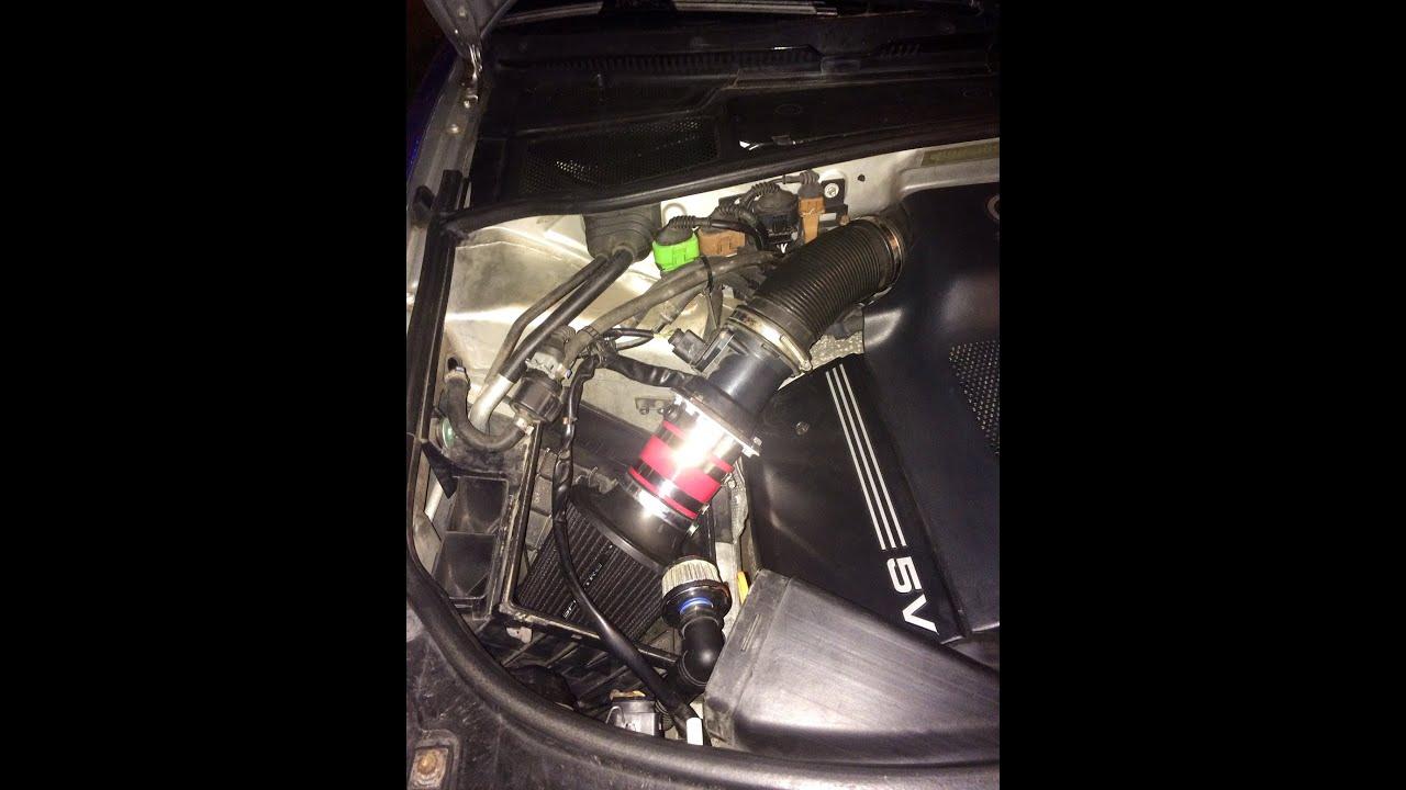 01 audi a4 b5 2 8l pod filter diy youtube rh youtube com 1998 Nissan Sentra Manual 1998 Audi A4 Fuse Diagram