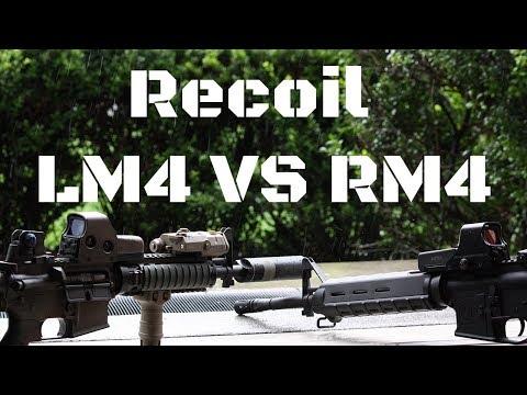 KWA LM4 VS KWA RM4 | Recoil Comparison