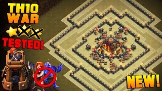 Clash of Clans | LITERALLY THE BEST TH10 War Base w/ BOMB TOWER | TH10 Anti 2 Star Base TESTED[2016]