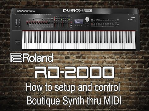 Roland RD-2000 - How to setup and control Boutique Synth thru MIDI