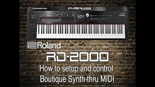 Download lagu Roland RD 2000 How to setup and control Boutique Synth thru MIDI MP3