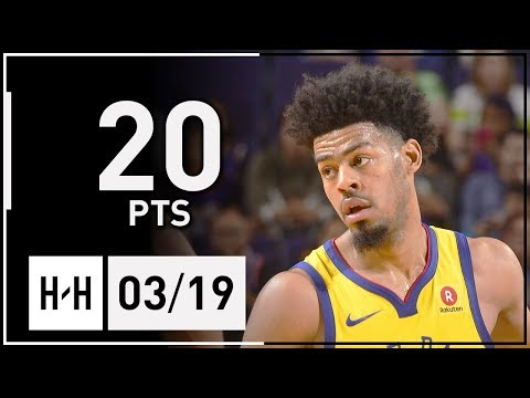 Quinn Cook Full Highlights Warriors vs Spurs (2018.03.19) - 20 Pts!