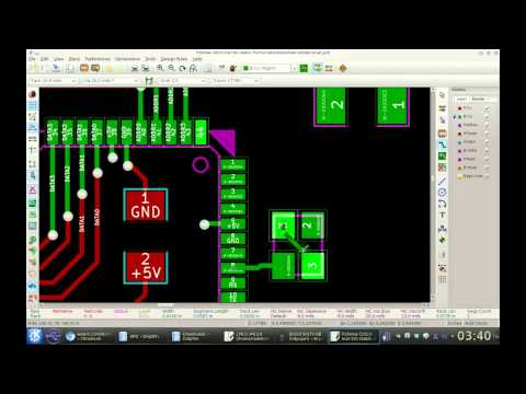 Timelapse of designing PCB for LiDAR in KiCad