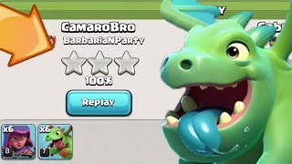 BH 4 BABY DRAGON 3 STARS, SO EASY | Clash of Clans | Builder Base Best Attack