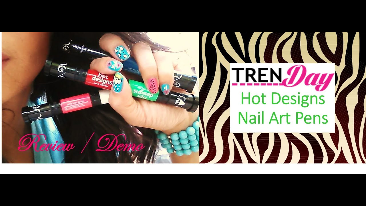 hot design glitz & glam nail art pens -- review & quick tutorial