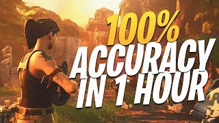 How to get BETTER AIM on Console in Fortnite! *99% ACCURACY*