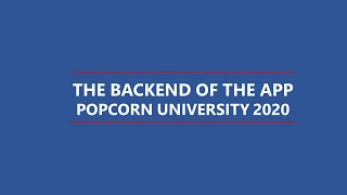 Backend of the Popcorn App