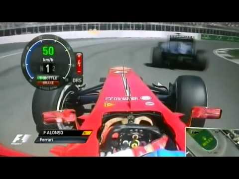Alonso Vs Hamilton Onboard Canada 2013 F1