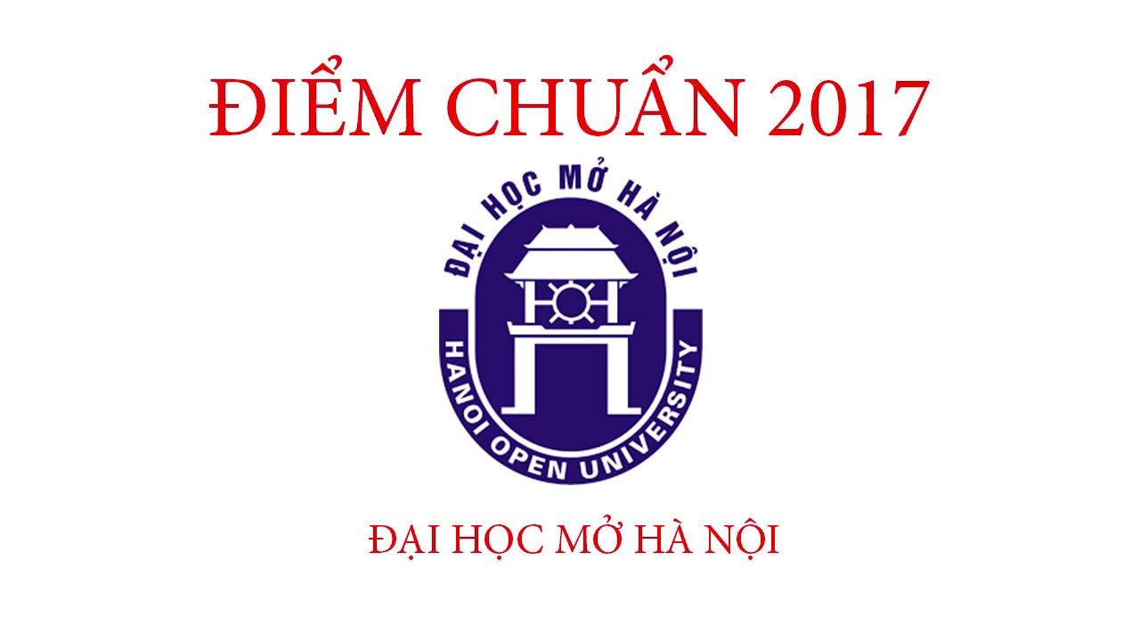 Điểm chuẩn 2017 Đại học Mở Hà Nội