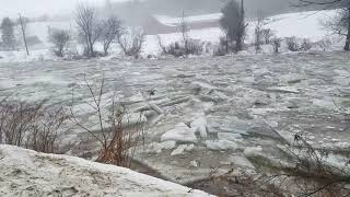 The Mad River ice Jam January 12th 2018 the mad River ice jam January 12th 2018