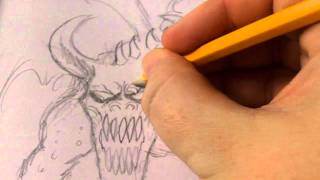 Drawing A Dragon Gargoyle Statue Creature