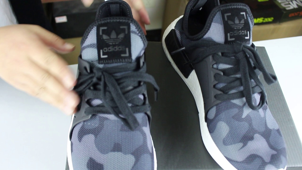"2171918d8 Adidas NMD XR1 ""Duck Camo""Black Detail Desription - YouTube"