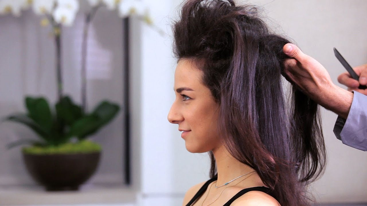 How To Tease Long Hair Long Hairstyles YouTube