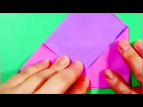 Easy Making Paper Envelope DIY Simple Origami Mailer without glue,with kids