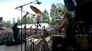 Pearl Artist Rolf Pilve - Stratovarius - Speed of Light @ South Park Festival, Tampere, 5/6/2015