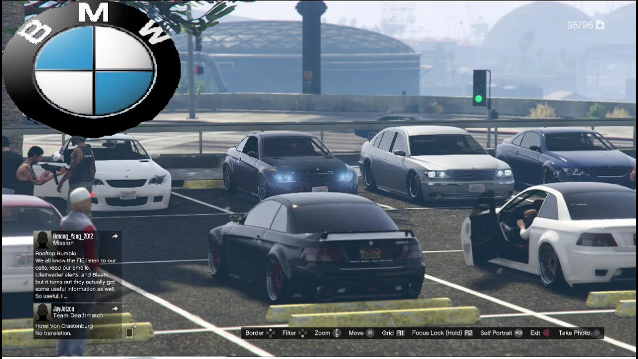 GTA 5 Online BMW Car Meet And Cruise - YouTube