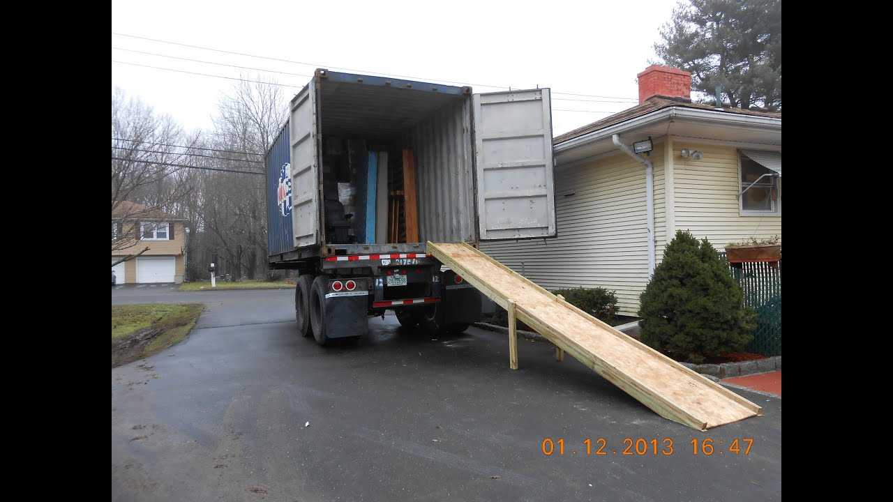 how to build loading ramp for tractor trailer, freight truck or