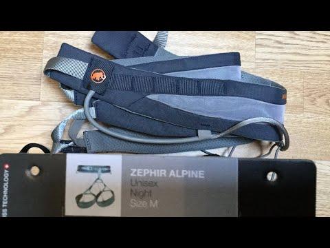Review: Mammut Zephir Alpine climbing Harness. Super lightweight