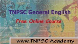 TNPSC General English - How to Study? | Free Online Course By www.TNPSC.Academy
