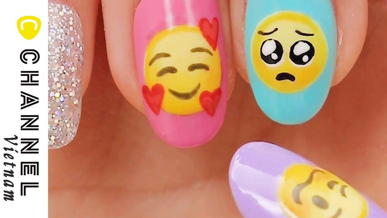Hôm nay bạn cảm thấy thế nào? Nail Emoji vui nhộn