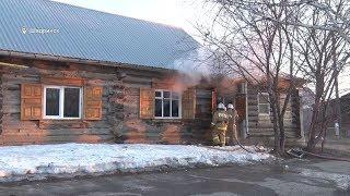 Пожар в доме 46 по ул. Свердлова (2019-04-09)