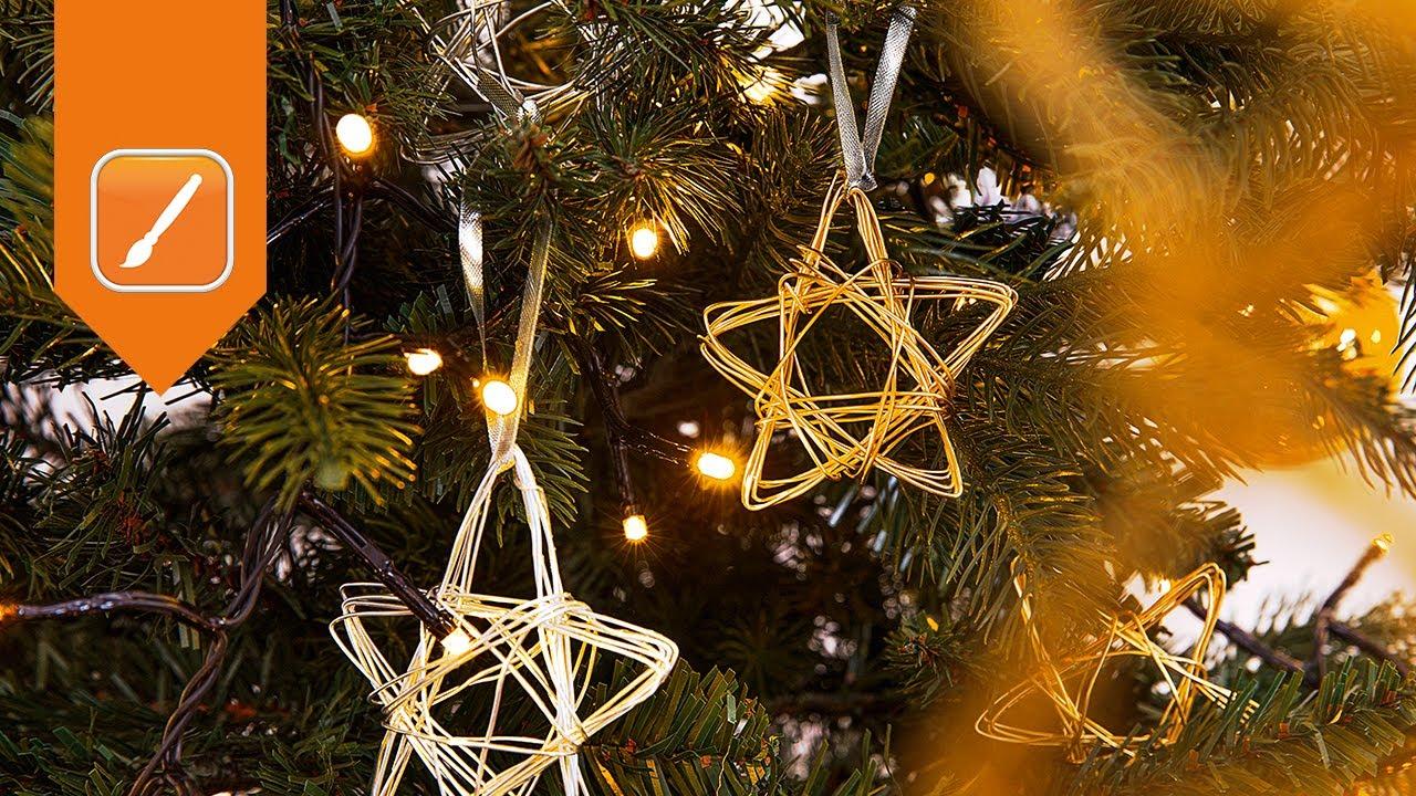 Weihnachtsdeko Basteln Für Den Tisch.Videoanleitung Drahtsterne Selber Basteln