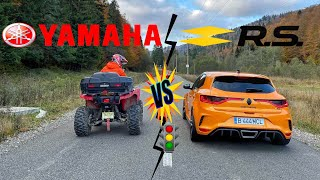 🚦DRAG RACE🚦 Yamaha Grizzly 700 (50HP) vs Renault Megane 4 RS (300HP)