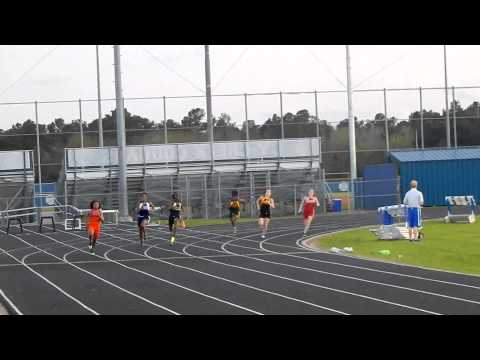 Spillane Middle School 8th Grade Girls 200 meter dash 3/25/15