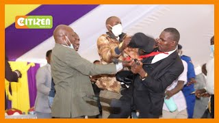 MPs Simba Arati and Sylvanus Osoro fight at a funeral in Kisii