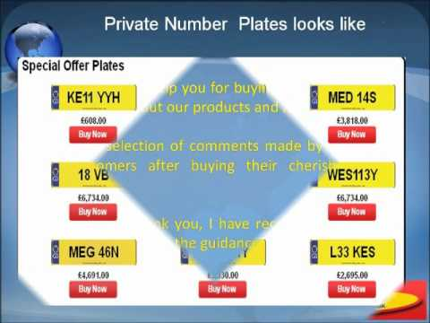 Private Number Plates - Cheapest Number Plates, Personal Number Plates, Registration Plates