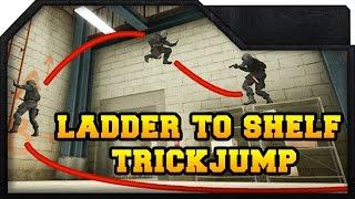 Cs:go - Nuke Ladder To Shelf Trickjump Tutorial