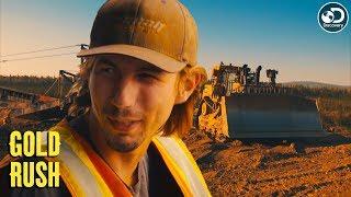 Parker Tries to Move Slucifer Using a Dozer | Gold Rush
