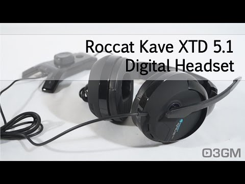 Wireless ergonomic earbuds headphones - ROCCAT Kave XTD 5.1 Analog - headset Overview