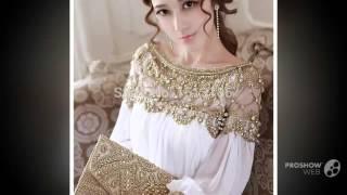 видео вечерние платья с рукавами