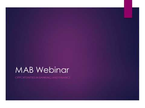 Careers in Finance Webinar