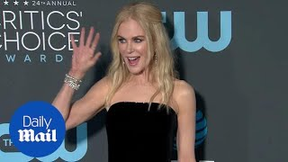 Nicole Kidman goes black and white for 2019 Critics' Choice