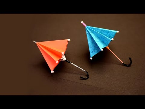 How to make paper umbrella | Origami Umbrella : That Open and Closes | Kids Paper Crafts