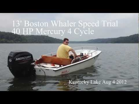 "13"" Boston Whaler Time Trial with 40HP Mercury 4 Stroke"