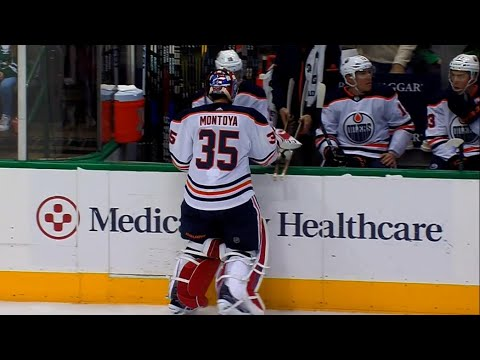 Talbot gets yanked, Montoya debuts for Oilers