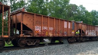 TRRS 479: CSX MOW Ballast Dumping Train in Action!