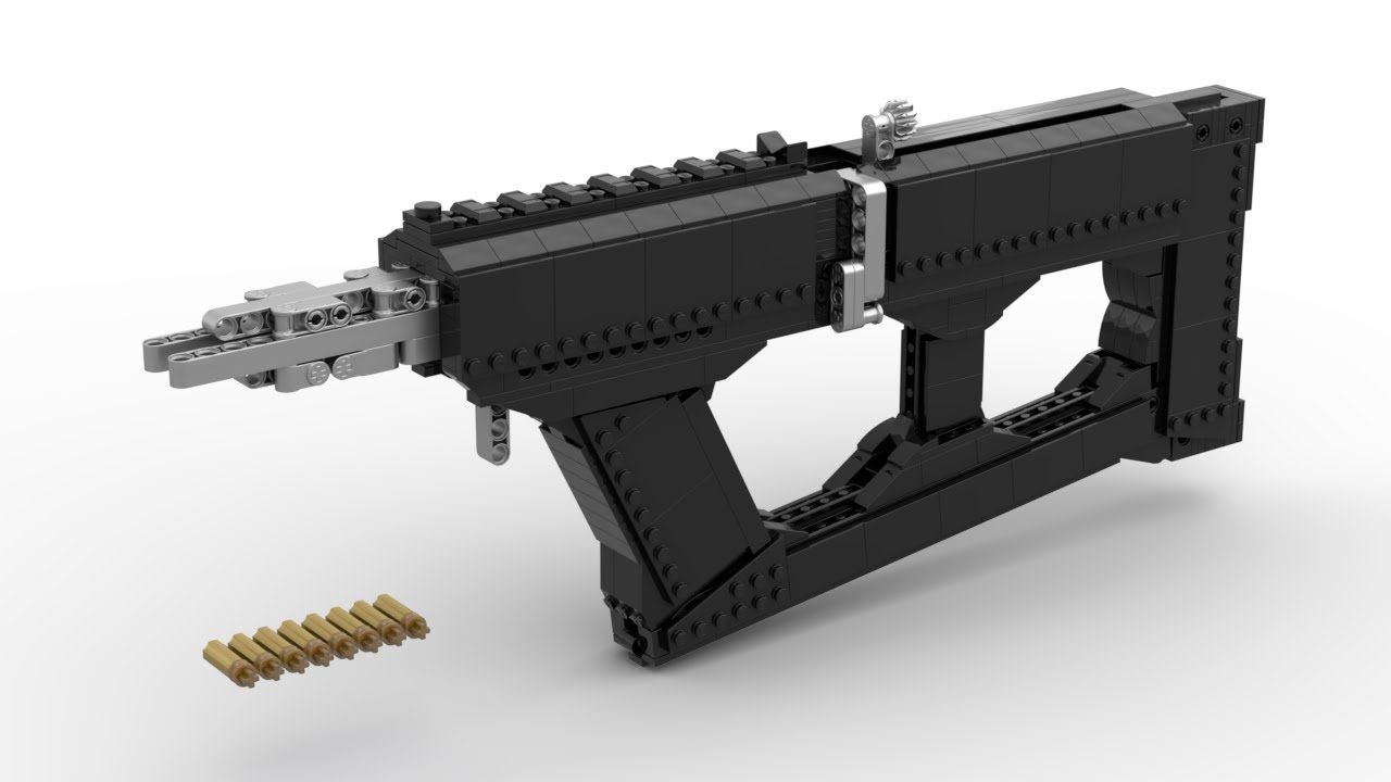 "Lego: Compact Sniper Rifle ""Mini Beast"" (Working) + Instructions"