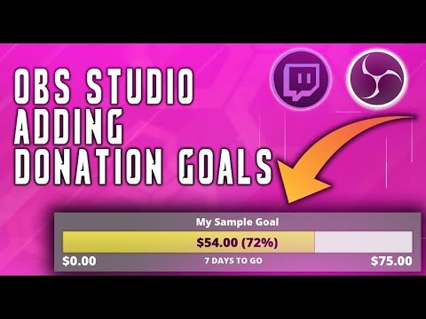 HOW TO: ADD A DONATION GOAL WITH OBS AND STREAM LABS