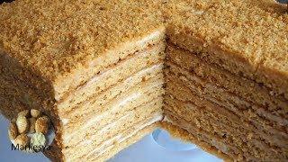 ЛЕНИВЫЙ МЕДОВИК без раскатки, нежный,просто тает во рту, медовый торт за 30 минут/MEDOVIK honey cake